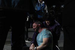 April 30, 2019 - Buenos Aires, Argentina - Serious incidents after a protest in front of the Embassy of Venezuela in Buenos Aires, Argentina on April 30, 2019. (Credit Image: © Gabriel Sotelo/NurPhoto via ZUMA Press)