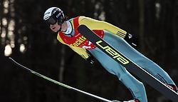 Robert Hrgota of SSK Velenje at Slovenian National Championship in Ski Jumping on February 12, 2008 in Kranj, Slovenia . (Photo by Vid Ponikvar / Sportal Images).