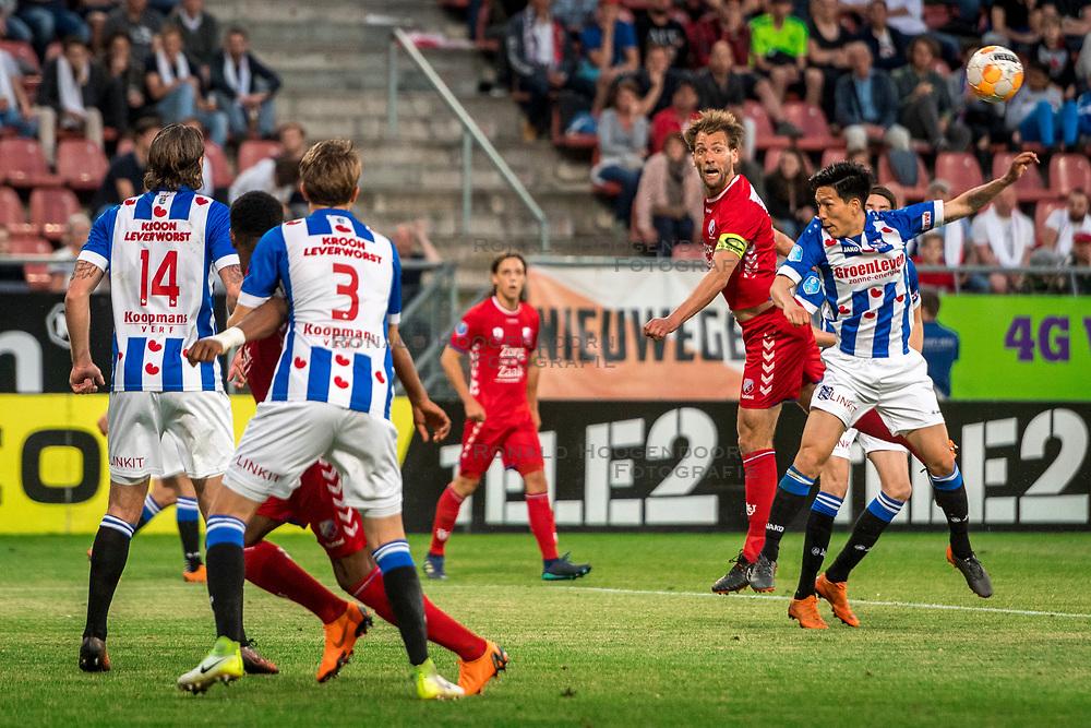 12-05-2018 NED: FC Utrecht - Heerenveen, Utrecht<br /> FC Utrecht win second match play off with 2-1 against Heerenveen and goes to the final play off / Willem Janssen #14 of FC Utrecht, Yuki Kobayashi #21 of SC Heerenveen