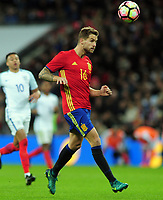 Football - 2016 / 2017 International Friendly - England vs. Spain<br /> <br /> Inigo Martinez of Spain at Wembley.<br /> <br /> COLORSPORT/ANDREW COWIE