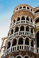 The tallest spinal staircase in Venice, Scala Contrarini del Bovolo, Venice, Italy.