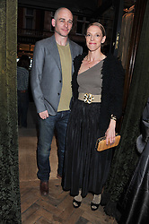 DINOS CHAPMAN and TIPHAINE CHAPMAN at a reception hosted by Ralph Lauren Double RL and Dexter Fletcher before a private screening of Wild Bill benefitting FilmAid held at RRL 16 Mount Street, London on 26th March 2012.