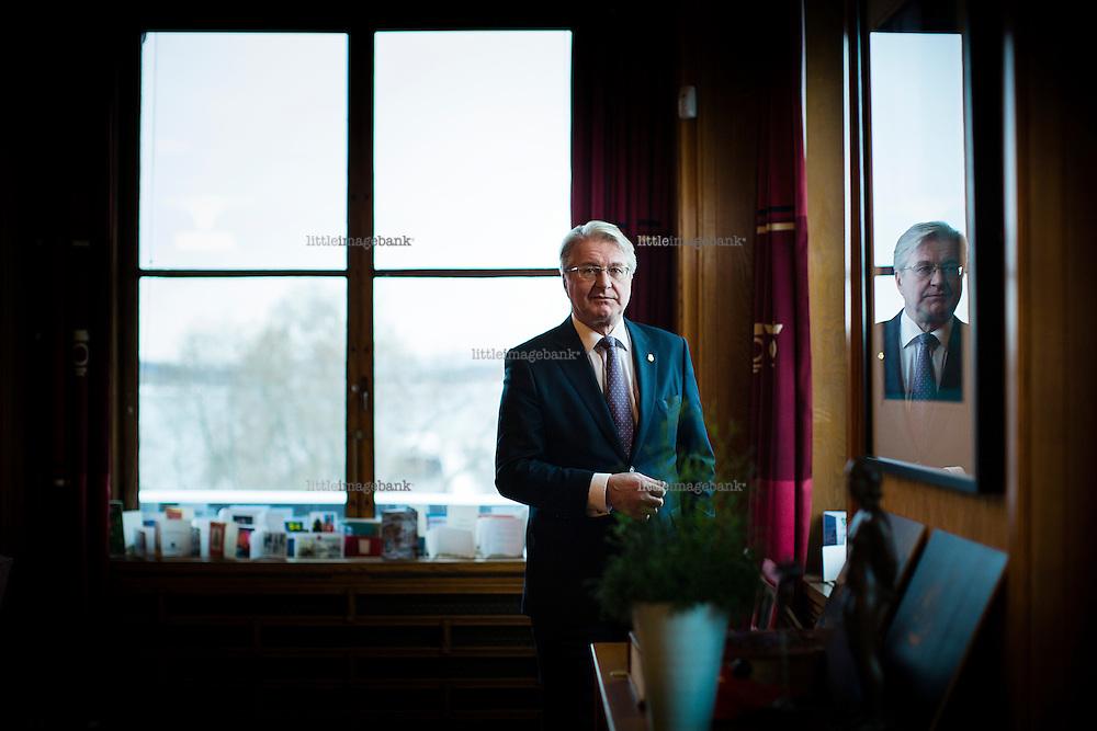 Oslo, Norge, 15.01.2014. Oslo ordfører Fabian Stang (H) uttaler seg om sexkjøpsloven. Foto: Christopher Olssøn.