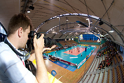 Photographer Grega Wernig Taka in Arena Lukna during volleyball match between National Teams of Slovenia and Belgium of 2011 CEV Volleyball European League Men - Pool A, on July 9, 2011, in  Arena Ljudski vrt Lukna, Maribor, Slovenia. Slovenia defeated Belgium 3-1. (Photo by Vid Ponikvar / Sportida)