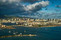 Port of Honolulu featuring Sand Island