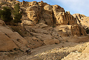 The Nabatean tombs of Petra, Jordan, were taken over by the Romans as they lay on the old frankincense trade routes. The Obelisk Tomb