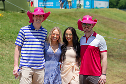 May 12, 2019 - Dallas, TX, U.S. - DALLAS, TX - MAY 12: Fans celebrate Mother's Day with pink hats during the final round of the AT&T Byron Nelson on May 12, 2019 at Trinity Forest Golf Club in Dallas, TX. (Photo by Andrew Dieb/Icon Sportswire) (Credit Image: © Andrew Dieb/Icon SMI via ZUMA Press)