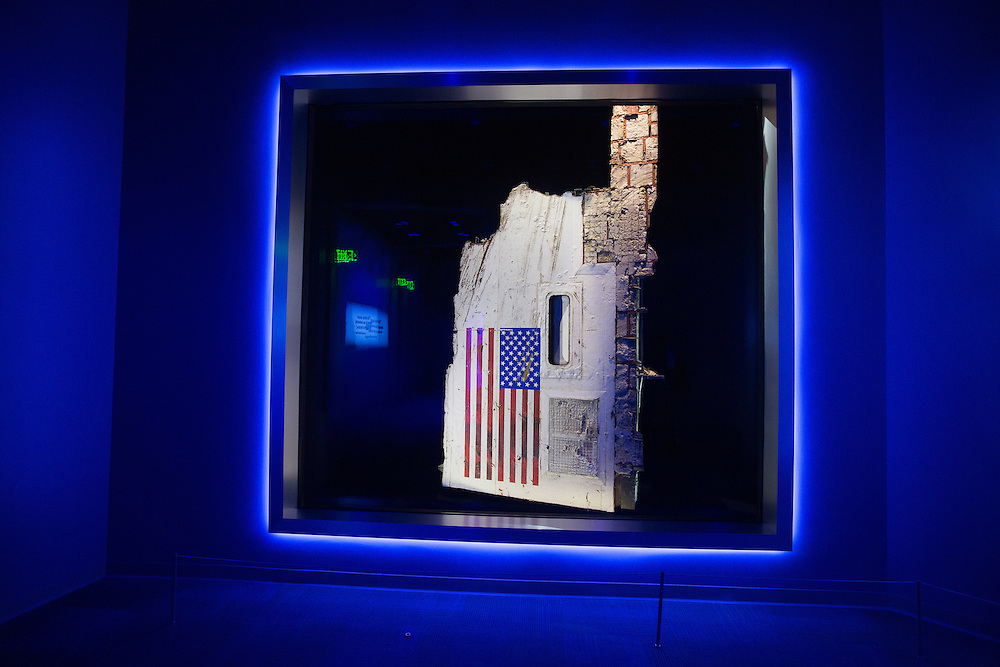 Debris from the space shuttle Challenger on display at the Kennedy Space Center visitor's center.  8/12/2016 Photo by John O'Boyle