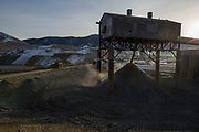 240 ton capacity trucks haul ore at the Montana Resources mine in Butte, MT on November 21, 2017. The mine, owned by The Washington Companies, produces copper and molybdenum. <br /> <br /> CREDIT: Nick Cote for The Wall Street Journal<br /> COPPERMINE