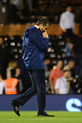 Fulham manager Slavisa Jokanovic cuts a dejected figure  - Mandatory by-line: Dougie Allward/JMP - 22/08/2017 - FOOTBALL - Craven Cottage - Fulham, England - Fulham v Bristol Rovers - Carabao Cup