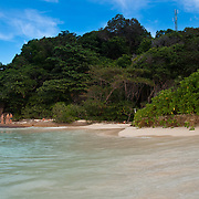 High tide on Ko miang beach, Similan islands, Thailand