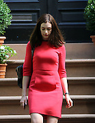 Sept. 4, 2014 - New York City, NY, United States - <br /> <br /> Anne Hathaway on set of the new movie 'The Intern'<br /> <br /> Actress Anne Hathaway was on the Brooklyn set of the new movie 'The Intern' on September 4 2014 in New York City<br /> ©Exclusivepix