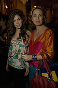 COSIMA RAMIREZ RUIZ DE LA PRADA AND HER MOTHER AGATHA RUIZ DE LA PRADA. Crillon Debutante Ball 2007, DRINKS DAY BEFORE.  BACCARAT. Paris. -DO NOT ARCHIVE-© Copyright Photograph by Dafydd Jones. 248 Clapham Rd. London SW9 0PZ. Tel 0207 820 0771. www.dafjones.com.