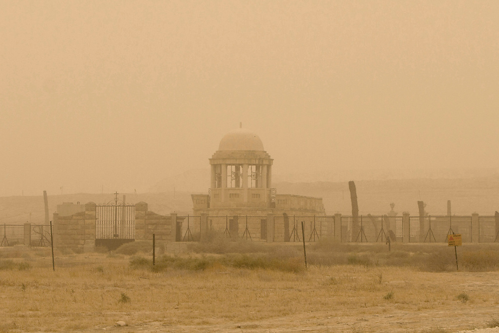 An old deserted monestery is seen at the Quaser El Yahud  baptism site in the Jordan River valley during<br /> An unusual hazy weather that was coverring some parts f the middle east, on September 8, 2015.