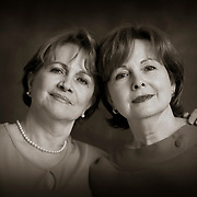 black and white Portrait of the Gutierrez sisters