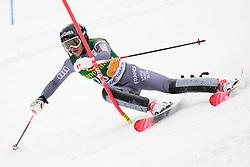 January 7, 2018 - Kranjska Gora, Gorenjska, Slovenia - Adeline Baud Mugnier of France competes on course during the Slalom race at the 54th Golden Fox FIS World Cup in Kranjska Gora, Slovenia on January 7, 2018. (Credit Image: © Rok Rakun/Pacific Press via ZUMA Wire)