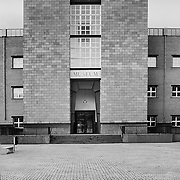 Maastricht, The Netherlands, 2002: View of the main entrance of the Bonnefanten Museum at Ave Ceramique by Aldo Rossi arch. Photographs by Alejandro Sala   Visit Shop Images to purchase and download a digital file and explore other Alejandro-Sala images…