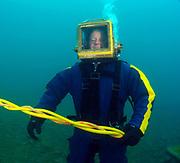 Mark 12 commercial diver at Dutch Springs, Scuba Diving Resort in Bethlehem, Pennsylvania