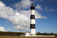 NC00802-00...NORTH CAROLINA - Bodie Island Lighthouse on Bodie Island along the Outer Banks in Cape Hatteras National Seashore.