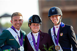 Voets Sanne, NED, Riskalla Rodolpho, BRA, Shoemaker Kate, USA, <br /> World Equestrian Games - Tryon 2018<br /> © Hippo Foto - Sharon Vandeput<br /> 22/09/2018