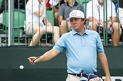 May 5, 2019 - Charlotte, North Carolina, United States of America - Jason Dufner signs a ball and throws it to a kid on the tenth tee box during the final round of the 2019 Wells Fargo Championship at Quail Hollow Club on May 05, 2019 in Charlotte, North Carolina. (Credit Image: © Spencer Lee/ZUMA Wire)