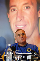 Photo: Rich Eaton.<br /> <br /> Cardiff City Press Conference. Coca Cola Championship. 24/07/2007. Robbie Fowler is pictured on a banner at Ninian Park, where he was announed as a new signing by Cardiff City manager Dave Jones.