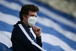 A ball boy is seen in the stand wearing a mask - Mandatory by-line: Arron Gent/JMP - 18/06/2020 - FOOTBALL - JobServe Community Stadium - Colchester, England - Colchester United v Exeter City - Sky Bet League Two Play-off 1st Leg