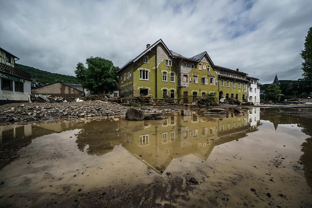 Schuld, DEU, 15.07.2021<br /> <br /> Zerstörungen durch Überflutung der Ort im Ort Schuld bei Adenau in der Eifel <br /> <br /> Foto: Bernd Lauter/berndlauter.com
