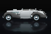 The Cord 812 is known as the villain's car in police movies that go back to the 1930s and 1940s. The Cord 812 is the getaway car in bank robberies or when a murder is committed. The Cord 812 still has supporters who like to convert it into the Cord 812 Lone Runner. -<br /> BUY THIS PRINT AT<br /> <br /> FINE ART AMERICA<br /> ENGLISH<br /> https://janke.pixels.com/featured/cord-812-from-1930-lateral-view-jan-keteleer.html<br /> <br /> WADM / OH MY PRINTS<br /> DUTCH / FRENCH / GERMAN<br /> https://www.werkaandemuur.nl/nl/shopwerk/Cord-812-uit-1930-Zijaanzicht/737390/132?mediumId=11&size=75x50<br /> <br /> -