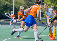 BLOEMENDAAL   -  Ankelein Baardemans (Bldaal)  scoort . oefenwedstrijd dames Bloemendaal-Victoria, te voorbereiding seizoen 2020-2021.   COPYRIGHT KOEN SUYK