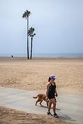 Bike Path in Playa Del Rey, Los Angeles, California, USA
