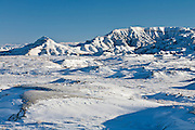 Bighorn Basin of Wyoming in winter