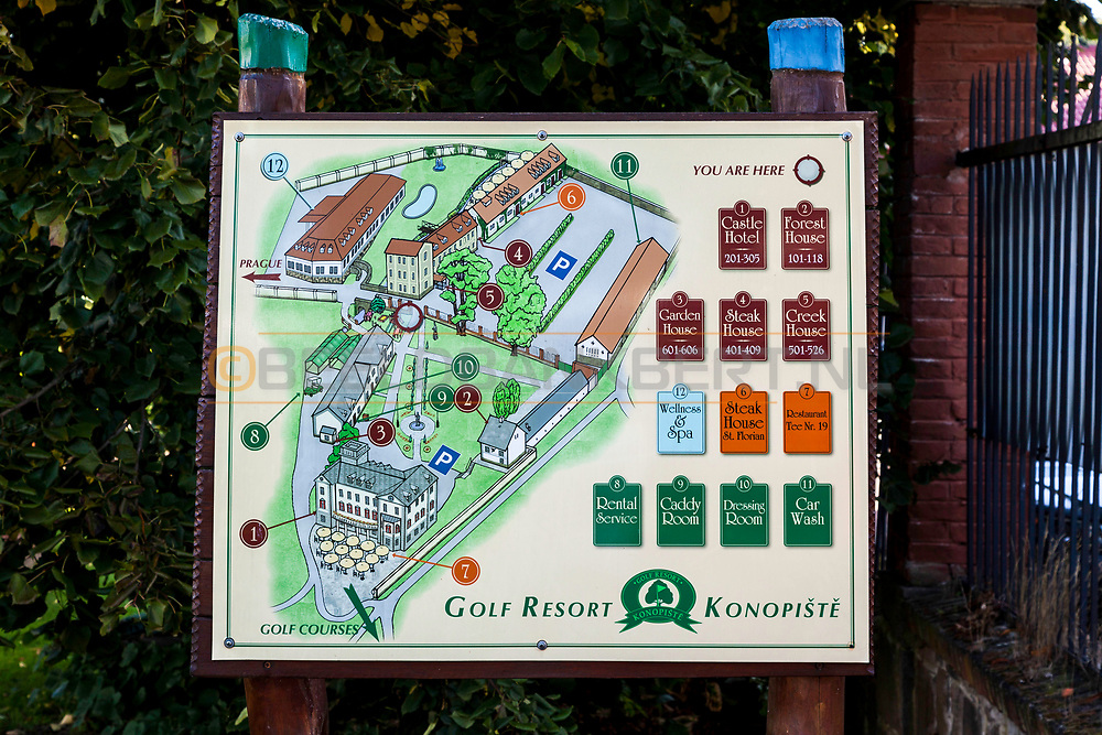 19-09-2015: Golf & Spa Resort Konopiste in Benesov, Tsjechië.<br /> Foto: Overzicht van de gebouwen