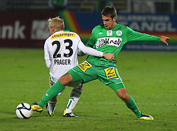 26.11.2011, Pappelstadion, Mattersburg, AUT, 1. FBL, SV Mattersburg vs SK Rapid, im Bild Ivan Parlov, (SV Mattersburg, #25) vs Thomas Prager, (SK Rapid Wien, #23) during the Austrian Bundesliga Match, SV Mattersburg against SK Rapid, Stadium, Pappelstadion Mattersburg, Austria on 2011-11-26, EXPA Pictures © 2011, PhotoCredit: EXPA/ S. Woldron