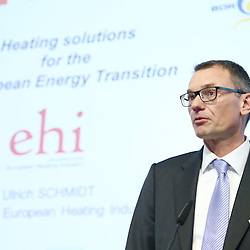 20150226 - Brussels - Belgium - 26 February 2015 -  Heating and cooling in the European energy  transition conference - Heat in the service of the EU energy transition  - Ulrich Schmidt , Chairman, european Heating Industry ( EHI ) © EC/CE - Patrick Mascart