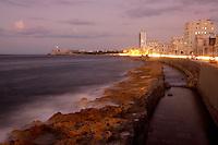 City of Havana, Cuba, at night.