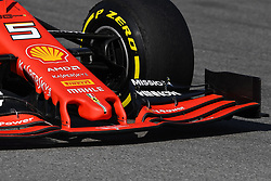 February 18, 2019 - Barcelona, Spain - Detail of front Sebastian Vettel car, from Scuderia Ferrari Mission Winnow, during the first day of Formula One Test at Catalonia Circuit, on February 18, 2019 in Barcelona, Spain. (Credit Image: © Joan Cros/NurPhoto via ZUMA Press)