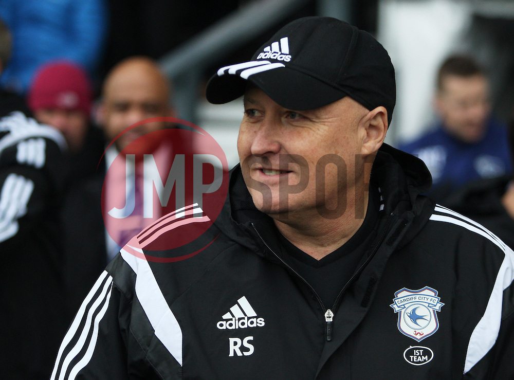 Cardiff City Manager Russell Slade before the match - Mandatory byline: Jack Phillips / JMP - 07966386802 - 21/11/2015 - FOOTBALL - The iPro Stadium - Derby, Derbyshire - Derby County v Cardiff City - Sky Bet Championship