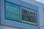Downtown LA Honda located 780 W Martin Luther King Jr Blvd in the wake of the coronavirus COVID-19 pandemic, Wednesday, May 20, 2020. in Los Angeles, Calif. (Jevone Moore/Image of Sport)