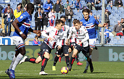 "February 24, 2019 - Genova, Italia - Foto LaPresse - Tano Pecoraro.24 02 2019 Genova - (Italia).Sport Calcio.Sampdoria vs Cagliari.Campionato di Calcio Serie A TIM 2018/2019 - Stadio ""Luigi Ferraris"".nella foto: barella nicolò..Photo LaPresse - Tano Pecoraro.24 Febraury 2019 City Genova - (Italy).Sport Soccer.Sampdoria vs Cagliari.Italian Football Championship League A TIM 2018/2019 - ""Luigi Ferraris"" Stadium.in the pic: barella nicolò (Credit Image: © Tano Pecoraro/Lapresse via ZUMA Press)"
