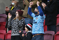 Brentford fans look happy to be back as the teams run out<br /> <br /> Photographer Rob Newell/CameraSport<br /> <br /> The EFL Sky Bet Championship - Brentford v Blackburn Rovers - Saturday 5th December 2020 - Brentford Community Stadium - Brentford<br /> <br /> World Copyright © 2020 CameraSport. All rights reserved. 43 Linden Ave. Countesthorpe. Leicester. England. LE8 5PG - Tel: +44 (0) 116 277 4147 - admin@camerasport.com - www.camerasport.com