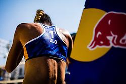 Tjasa Kotnik of Slovenia during Beach Volleyball World Tour in Ljubljana 2020, on August 1, 2020 in Kongresni trg, Ljubljana, Slovenia. Photo by Grega Valancic / Sportida