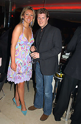JOSIE GOODBODY and JEREMY SINGER at a night of Cuban Cocktails and Cabaret hosted by Edward Taylor and Charles Beamish at Floridita, 100 Wardour Street, London W1 on 14th April 2005.<br /><br />NON EXCLUSIVE - WORLD RIGHTS