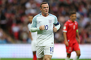 Wayne Rooney, the England captain looking on. FIFA World cup qualifying match, european group F, England v Malta at Wembley Stadium in London on Saturday 8th October 2016.<br /> pic by John Patrick Fletcher, Andrew Orchard sports photography.