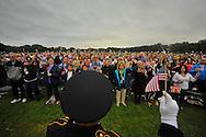 Memorial ceremony @ Marine Park Brooklyn. Brooklyn, New York. USA. Sep 11, 2011.