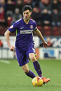 Johnnie Jackson of Charlton Athletic during the Sky Bet Championship match between Rotherham United and Charlton Athletic at the New York Stadium, Rotherham, England on 30 January 2016. Photo by Ian Lyall.