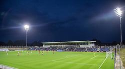 Et kig udover stadion under kampen i 1. Division mellem FC Helsingør og Silkeborg IF den 11. september 2020 på Helsingør Stadion (Foto: Claus Birch).