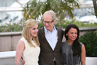 Siobhan Reilly, Ken Loach, Jasmin Riggins at The Angel?s Share photocall at the 65th Cannes Film Festival France. The Angel's Share is directed by Ken Loach. Tuesday 22nd May 2012 in Cannes Film Festival, France.