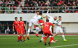 Republic of Ireland's Shane Duffy (centre) in action during the UEFA Euro 2020 Qualifying, Group D match at the Victoria Stadium, Gibraltar.