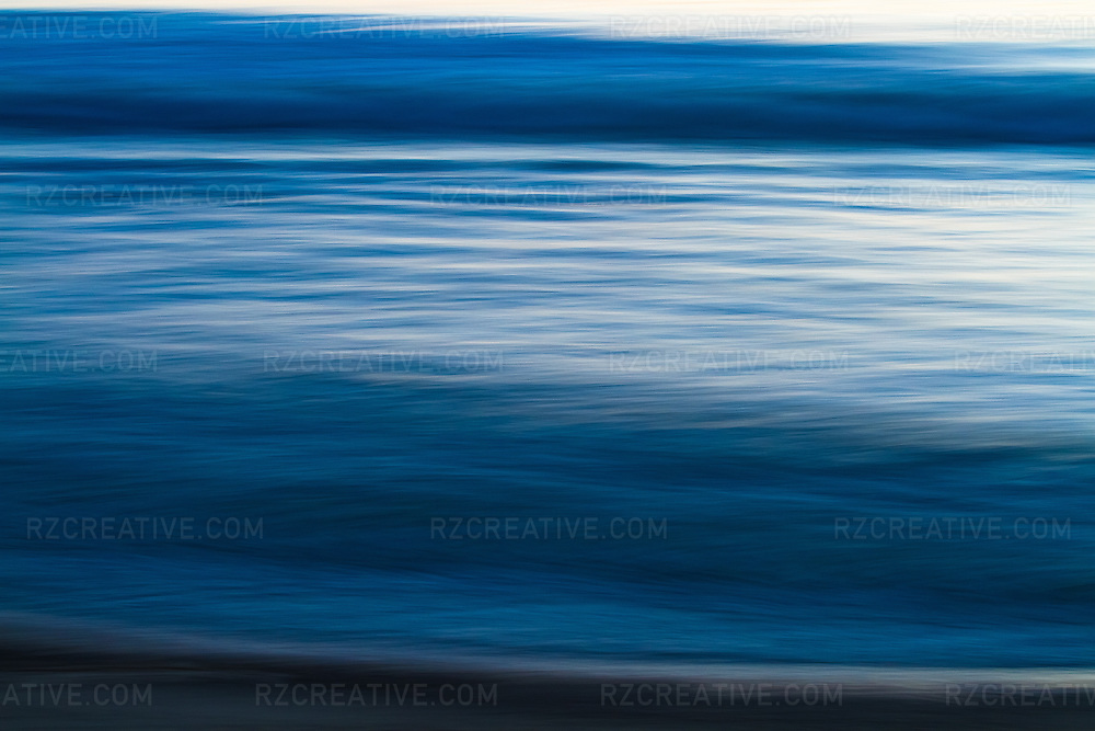 Abstract image of the ocean at sunset.